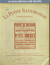 LA PETITE ILLUSTRATION THEATRE  numéro 14 du 10 avril 1920