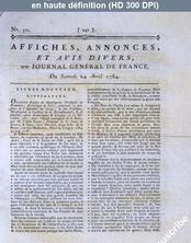 JOURNAL GENERAL DE FRANCE numéro 50 du 24 avril 1784