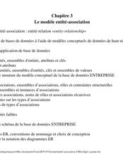 Chapitre 3 Le modèle entité-association