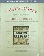 LA PETITE ILLUSTRATION THEATRE  numéro 3018 du 29 décembre 1900