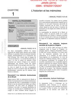 Livre Du Professeur Partie Géographie - Histoire ...