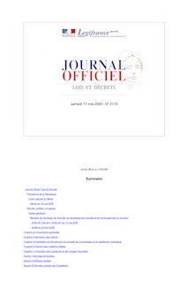 Journal officiel n°0114 du 17 mai 2008