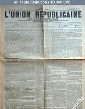 L' UNION REPUBLICAINE DE FONTAINEBLEAU  numéro 1940 du 10 avril 1896