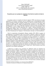 Proposition pour une typologie des régulations Nord-Sud des transferts de fonds de migrants