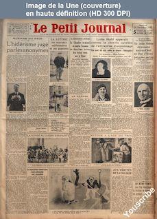 LE PETIT JOURNAL  numéro 25908 du 22 décembre 1933