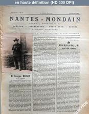 NANTES MONDAIN numéro 21 du 22 février 1902