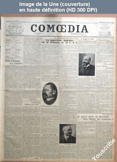 COMOEDIA numéro 3693 du 26 janvier 1923