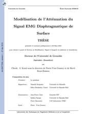 Modélisation de l'Atténuation du Signal EMG Diaphragmatique de Surface