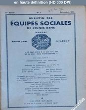 BULLETIN DES EQUIPES SOCIALES DE JEUNES GENS numéro 3 du 01 décembre 1934