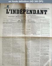 L' INDEPENDANT DE FONTAINEBLEAU  numéro 950 du 24 mai 1898