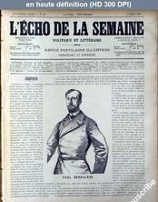 L' ECHO DE LA SEMAINE  numéro 127 du 08 mars 1891