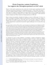 Écrire l'expertise, traduire l'expérience. Les rapports des chirurgiens parisiens au XVIIIe siècle