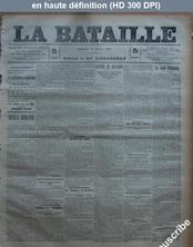 LA BATAILLE  numéro 756 du 08 février 1891