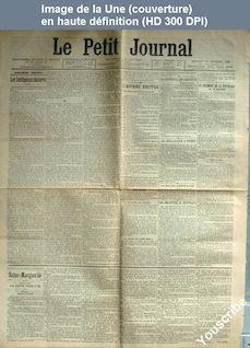 LE PETIT JOURNAL  numéro 13118 du 25 novembre 1898