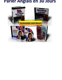 Télécharger Parler Anglais En 30 Jours PDF Gratuitement