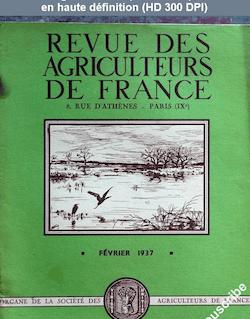 REVUE DES AGRICULTEURS DE FRANCE du 28 février 1937