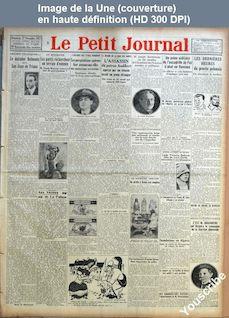 LE PETIT JOURNAL  numéro 23691 du 27 novembre 1927