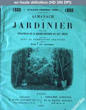 ALMANACH DU JARDINIER du 01 janvier 1888