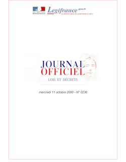 JORF n°236 du 11 octobre 2000