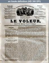 LE VOLEUR  numéro 19 du 05 avril 1838