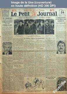LE PETIT JOURNAL  numéro 71193 du 24 janvier 1921