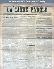 LA LIBRE PAROLE  du 11 août 1916