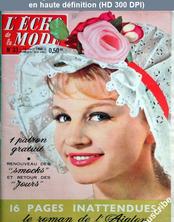 L' ECHO DE LA MODE  numéro 33 du 14 août 1960