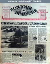 BONJOUR DIMANCHE numéro 42 du 27 juillet 1947