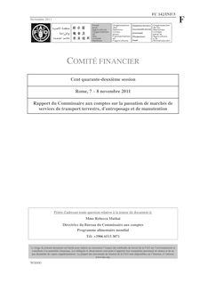 COMITÉ FINANCIER