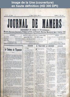 JOURNAL DE MAMERS numéro 24 du 10 juin 1960