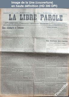 LA LIBRE PAROLE  du 23 novembre 1914