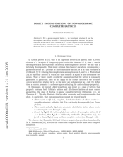 Direct decompositions of non-algebraic complete lattices