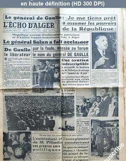 L' ECHO D'ALGER  du 16 mai 1958