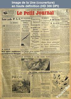 LE PETIT JOURNAL  numéro 27493 du 25 avril 1938