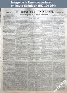 LE MONITEUR UNIVERSEL  numéro 255 du 12 septembre 1859