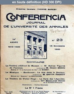 CONFERENCIA numéro 23 du 15 novembre 1920