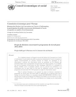 Conseil économique et social Distr. limitée