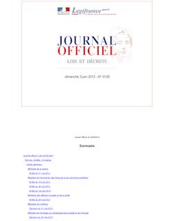 Journal officiel n°0128 du 3 juin 2012
