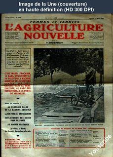 L' AGRICULTURE NOUVELLE  numéro 1872 du 13 mars 1937