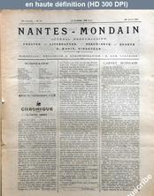 NANTES MONDAIN numéro 31 du 26 avril 1901