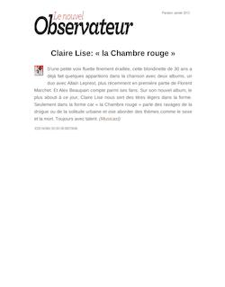Claire Lise: « la Chambre rouge »