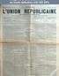 L' UNION REPUBLICAINE DE FONTAINEBLEAU  numéro 1636 du 01 avril 1893