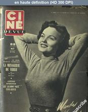 CINE REVUE numéro 7 du 16 février 1951