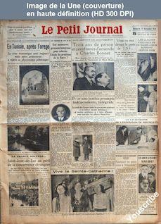 LE PETIT JOURNAL  numéro 26246 du 25 novembre 1934
