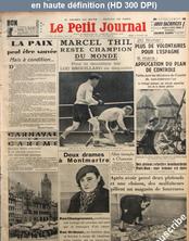 LE PETIT JOURNAL  numéro 27060 du 16 février 1937