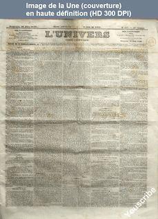 L' UNIVERS  numéro 173 du 26 juin 1859