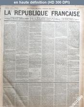 LA REPUBLIQUE FRANCAISE  numéro 2511 du 08 octobre 1878