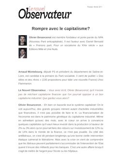Rompre avec le capitalisme?