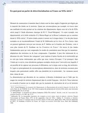 En quoi peut-on parler de déterritorialisation en France au XIXe siècle