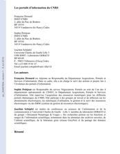 Les portails d'information du CNRS